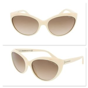 New TOM FORD Gradient Cream Cat Eye Sunglasses